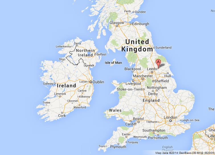 York England Map York on Map of UK