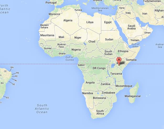 Where Is Kenya On The Map Kenya on Map of Africa