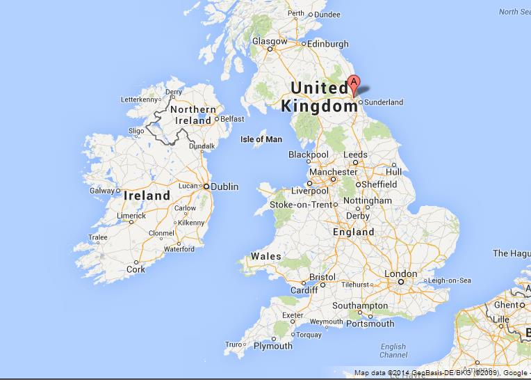 Newcastle England Map Newcastle upon Tyne on Map of UK Newcastle England Map