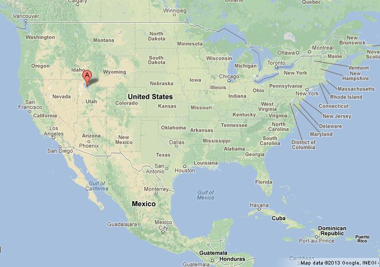Great Salt Lake Map Great Salt Lake on USA Map Great Salt Lake Map
