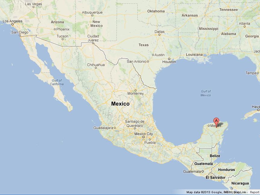Chichen Itza Map Chichen Itza on Map of Mexico Chichen Itza Map