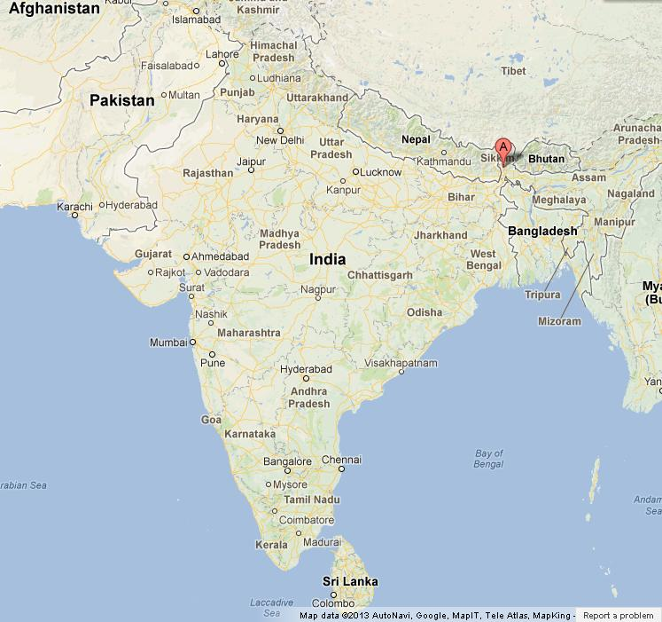 Darjeeling In India Map Darjeeling on Map of India