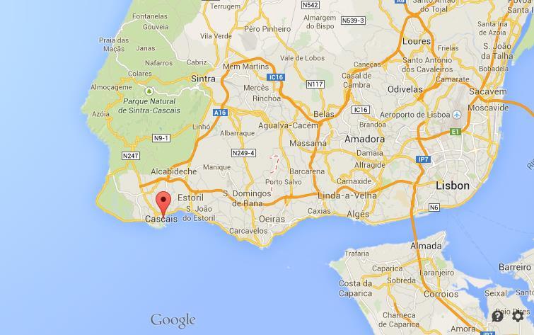 Cascais Portugal Map Where is Cascais on map of Lisbon region