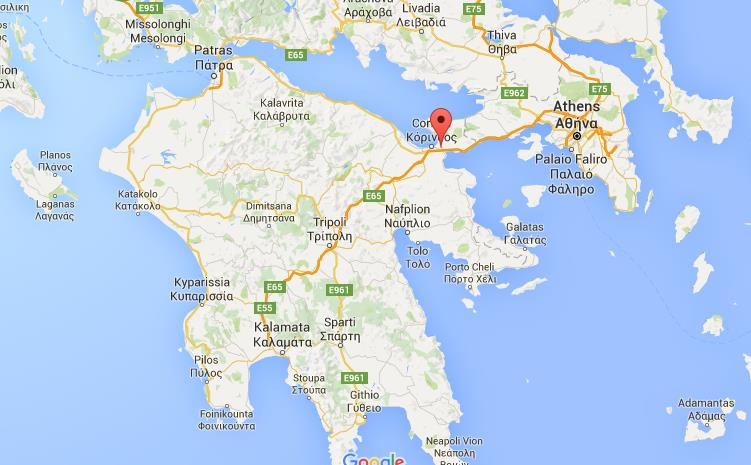 Map Of Corinth Where is Corinth Canal on map Greece