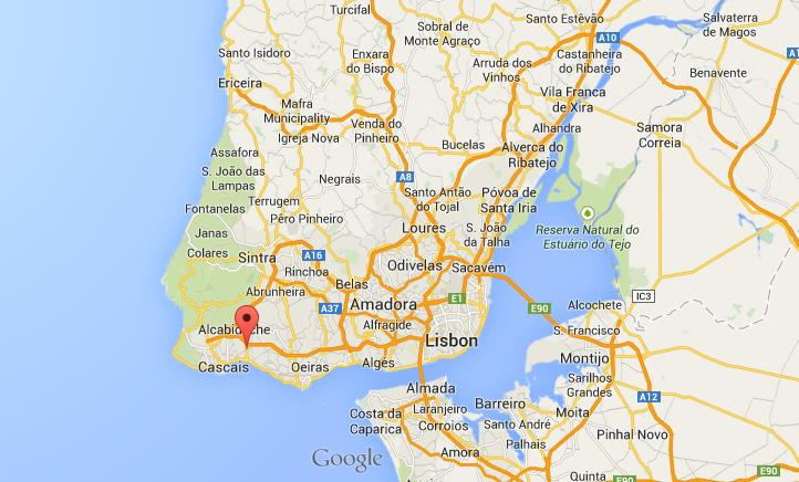 estoril mapa Where is Estoril on map Lisbon Region estoril mapa