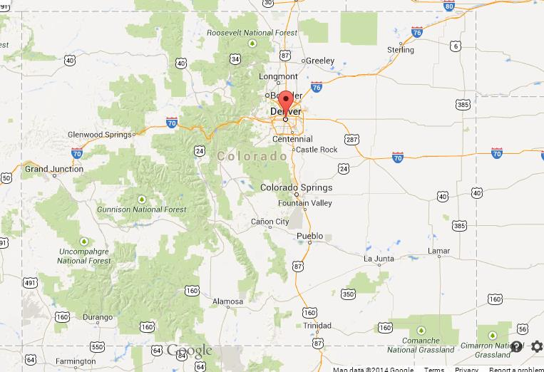 Denver On Map Denver on Map of Colorado Denver On Map