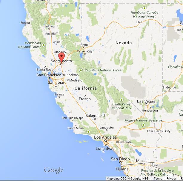 Sacramento On Map Sacramento on Map of California