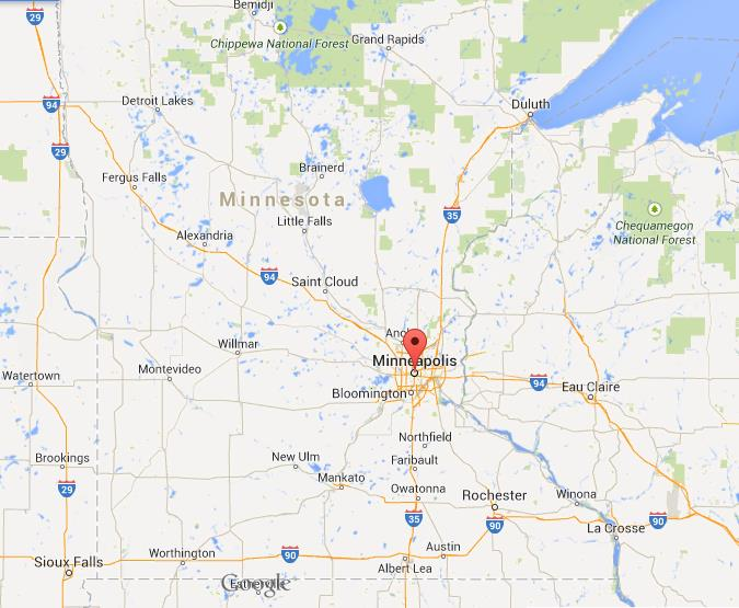 Minneapolis On Map Where is Minneapolis on map of Minnesota Minneapolis On Map