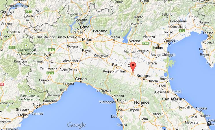 Modena Italy Map Where is Modena on map of north Italy