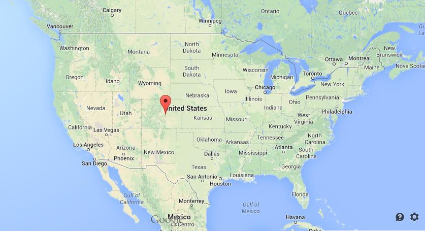 Where Is Colorado Springs On The Map Where is Colorado Springs on map of USA