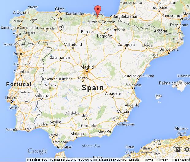 Bilbao Spain Map Bilbao on Map of Spain