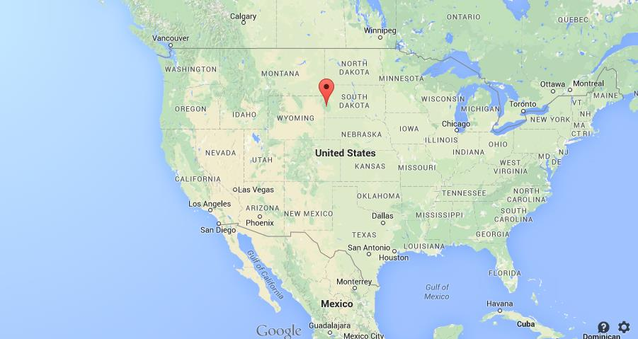 Black Hills Map Location Black Hills on map United States Black Hills Map