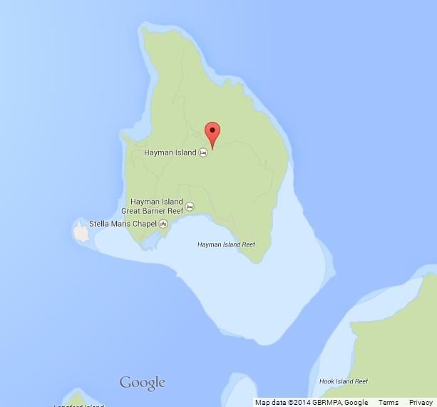 Hayman Island Map Australia Map of Hayman Island