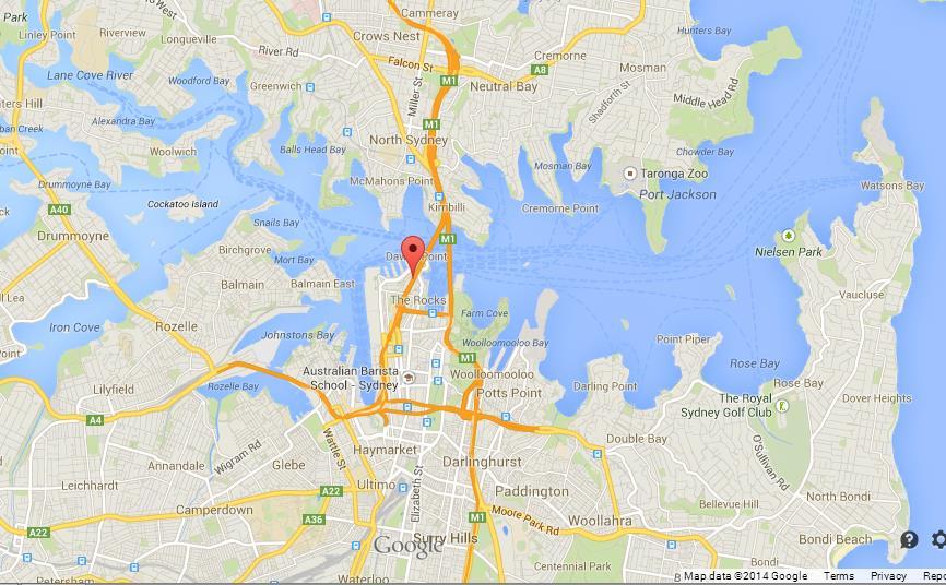 Map Of Sydney Harbour Sydney Harbour Bridge on Map of Sydney