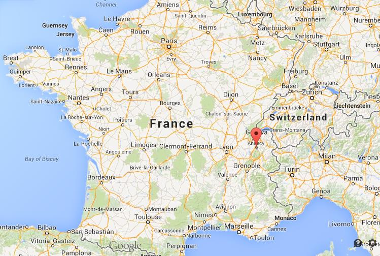 Annecy France Map Where is Annecy on map of France Annecy France Map