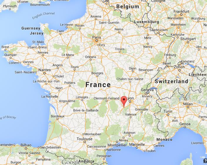 St Etienne Map Where is St Etienne on map of France St Etienne Map
