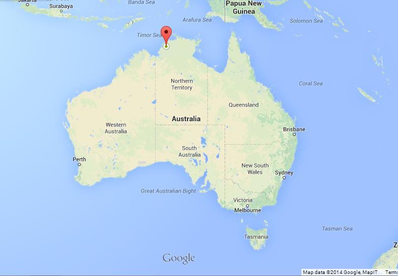 Litchfield National Park Map Litchfield National Park on map of Australia