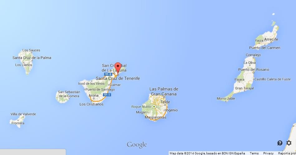 Tenerife On Map Tenerife on Map of Canary Islands Tenerife On Map