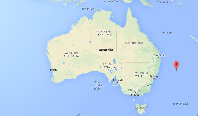 Lord Howe Island Map Where is Lord Howe Island on map Australia