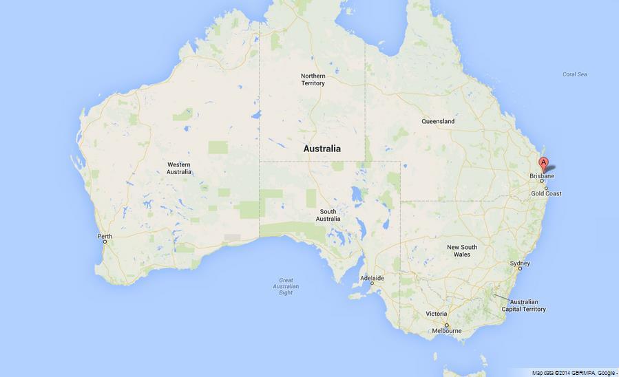 Map Of Bribie Island Bribie Island on Map of Australia Map Of Bribie Island