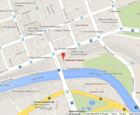 Federation Square Map Federation Square in Melbourne | World Easy Guides