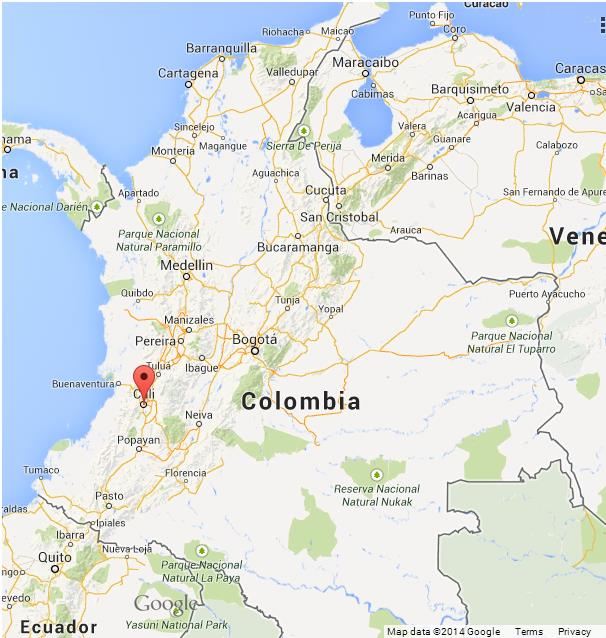 Cali Colombia Map Cali on Map of Colombia Cali Colombia Map