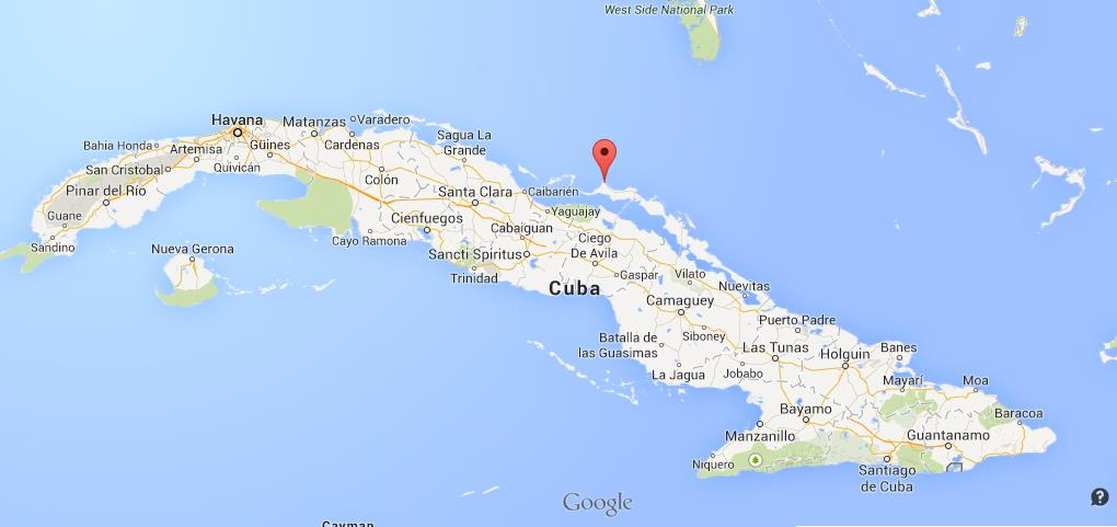Map Of Cayo Coco Cayo Guillermo on map Cuba