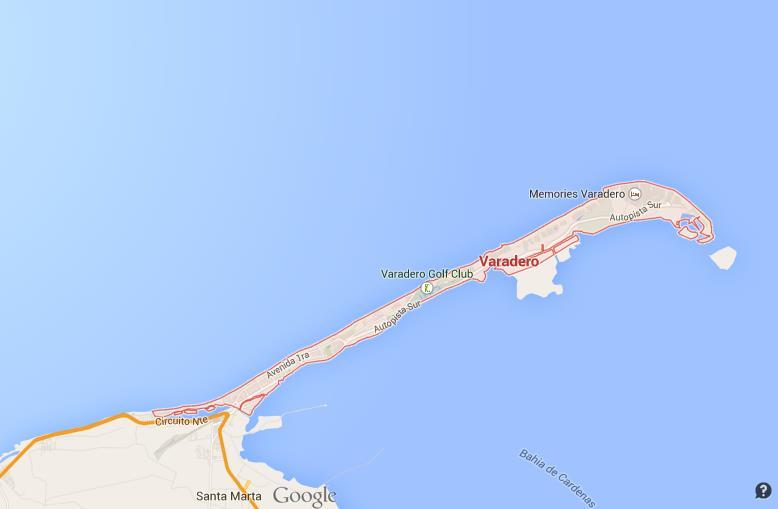 Map Of Varadero Map of Varadero