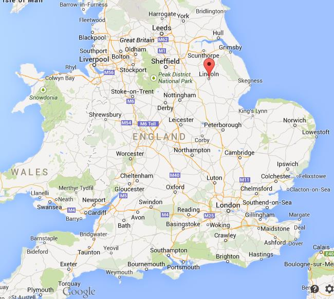 Lincoln Uk Map Where is Lincoln on map of England Lincoln Uk Map