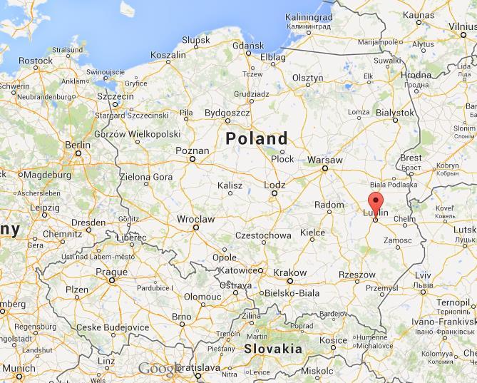 Lublin Poland Map Lublin on Map Poland
