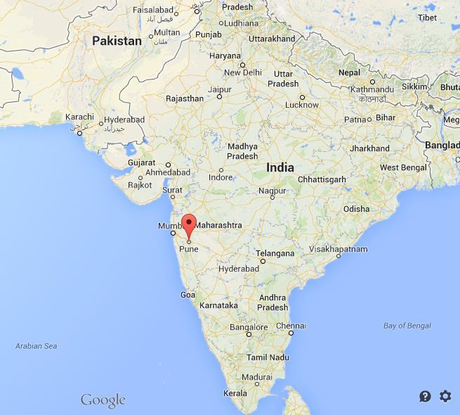 Pune India Map Pune on map of India Pune India Map
