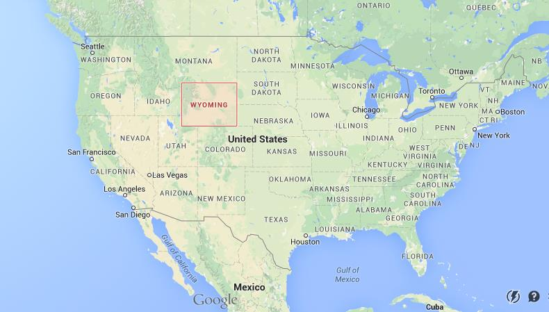 Wyoming On The Map Where is Wyoming on USA map