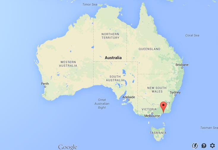Lakes Entrance Map Where is Lakes Entrance on map Australia Lakes Entrance Map