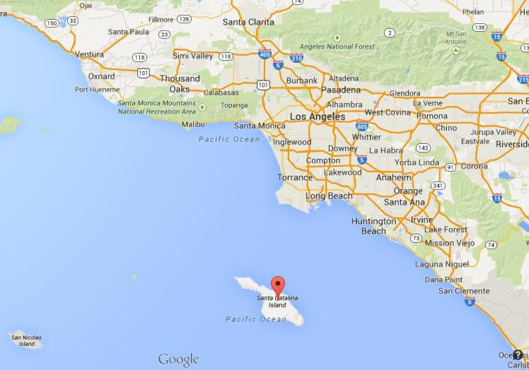 Where is Catalina Island on map Los Angeles