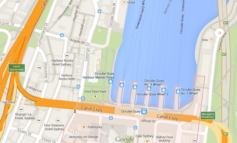 Circular Quay Map Map of Circular Quay Circular Quay Map