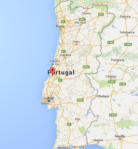 mapa portugal alcobaça Where is Alcobaça on map Portugal mapa portugal alcobaça