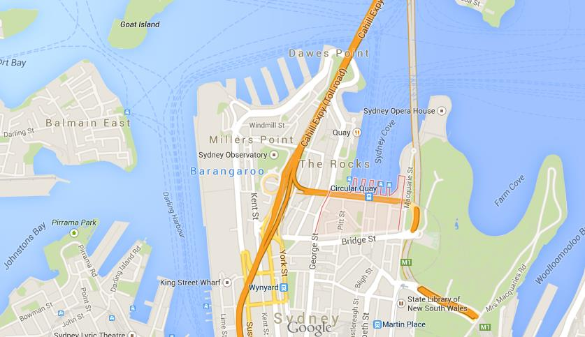 Circular Quay Map Where is Circular Quay on map of Sydney Circular Quay Map