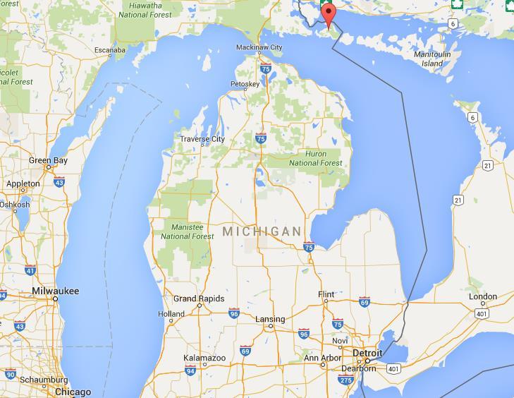 Drummond Island Map Where is Drummond Island on map Michigan Drummond Island Map