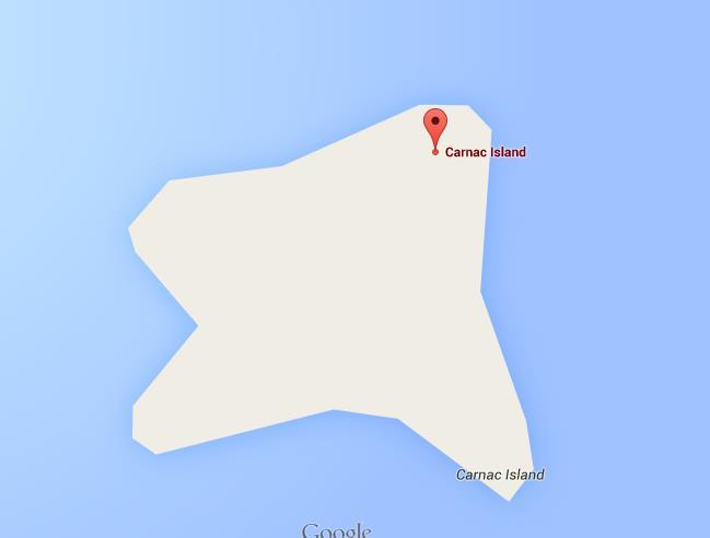 Carnac Island Map Map of Carnac Island
