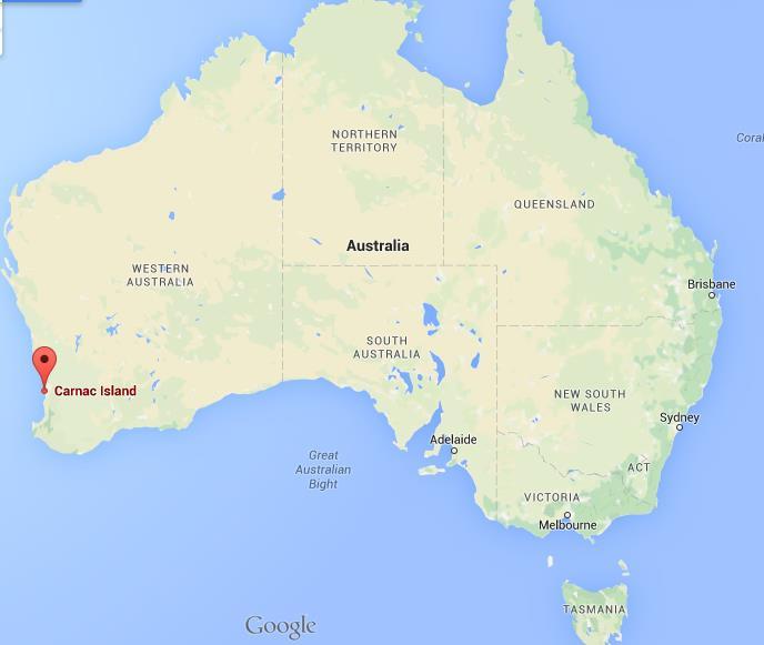 Carnac Island Map Where is Carnac Island on map Australia