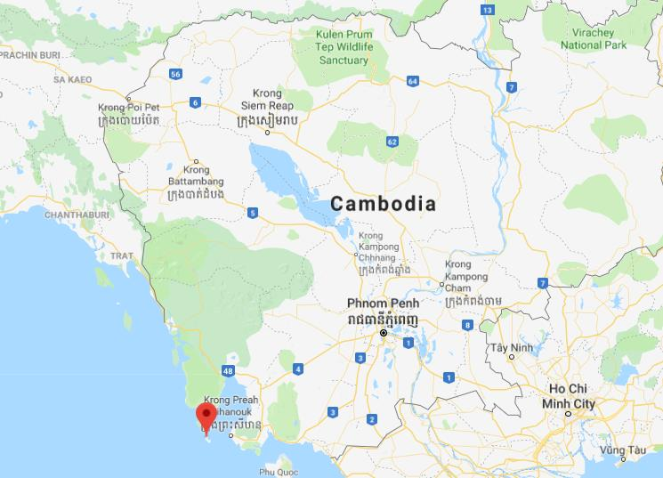 Koh Rong Cambodia Map Where is Koh Rong Samloem on map of Cambodia Koh Rong Cambodia Map